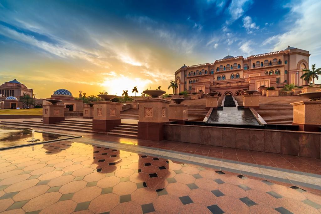 Sunset at Emirates Palace, Abu Dhabhi